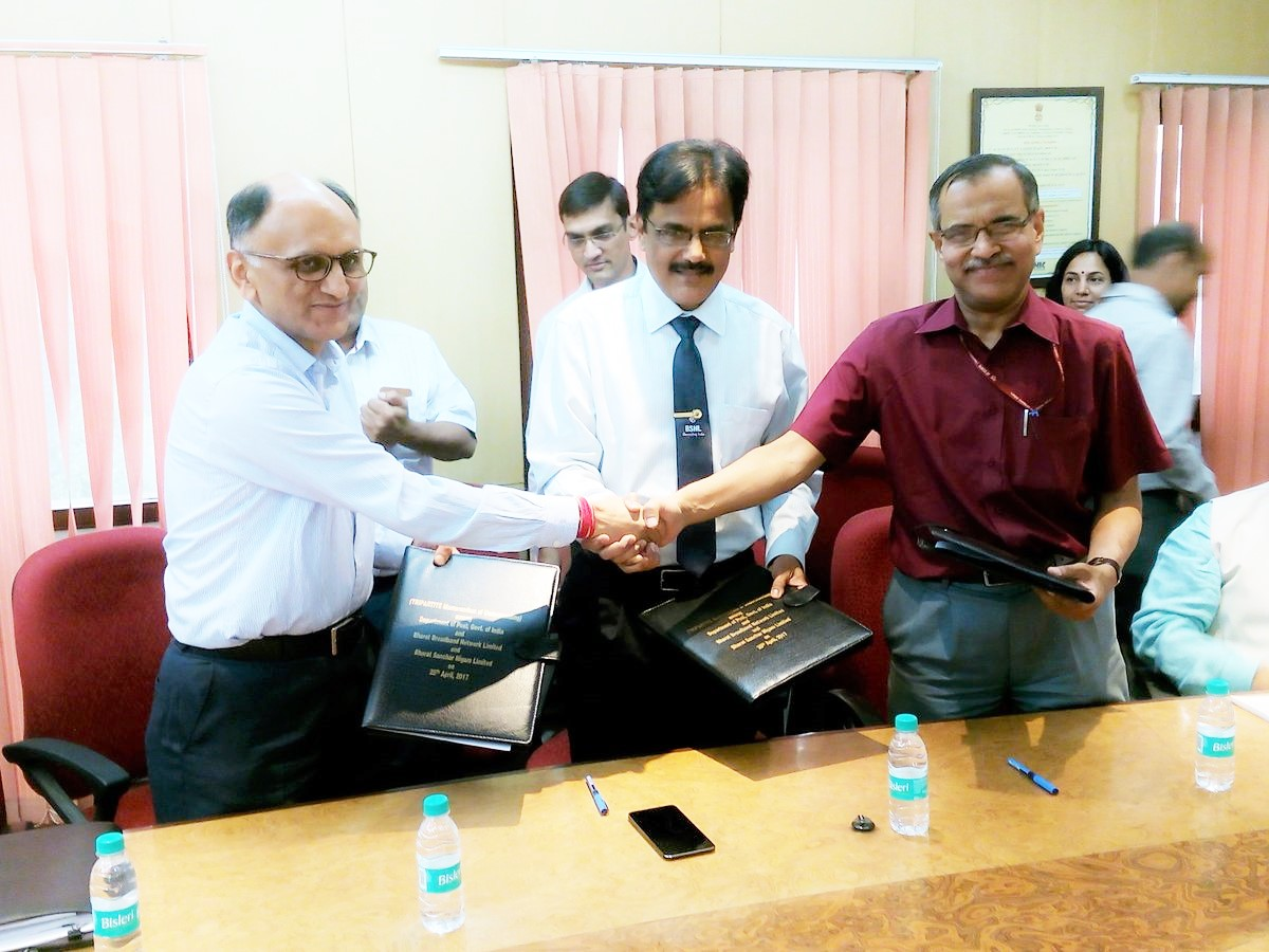 MOU between BBNL BSNL & DoP -2